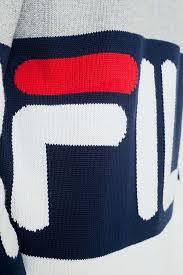 fila jumper. slide view: 6: fila blake grey bold crew knit jumper fila