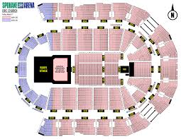 Spokane Arena Hockey Seating Chart Spokane Arena Concert Seating Www Virginiatile Com