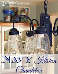 navy kitchen chandelier by 3 little greenwoods 3littlegreenwoods com