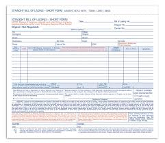 Short Form Bill Of Lading Template Adams Bill Of Lading Short Form 8 5 X 7 5 Inches 3 Part 50 Forms White 9013