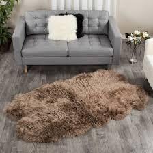 sheepskin area rug paco four pelt quatro 4x6 ft