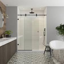 contractors wardrobe model 8800 48 in x 76 in frameless sliding shower door in