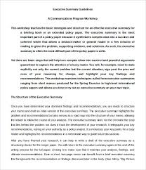 executive summary format for project report business executive summary template 31 executive summary templates