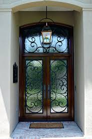 gallery photos of secure yet artistic home entrance using fiberglass front door with wrought iron designs