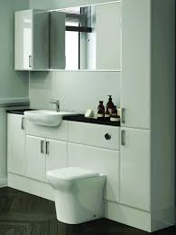 gloss gloss modular bathroom furniture collection. Deuco White Gloss Fitted Bathroom Furniture Reflects Light Back Into The Room Giving Appearance Of More Space. Addition Mirrored Storage Units Modular Collection