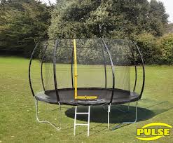 although it will take a maximum user weight of 150kg 23 stone it sits 82cm from the ground and its 12ft frame gives a 10 8 jump area