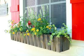 Flower box design Wood Planter Window Flower Box Homebnc 23 Diy Window Box Ideasbuild And Fill Them With Colorful Flowers