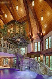 Impressive Treehouse Inside Lakefront Dream Home Lists With Indoor Tree House Intended Concept Design
