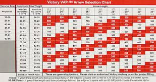 Victory Arrow Chart 6 Victory Micro Diameter Vap V6 250 350 400 450 500 Arrows