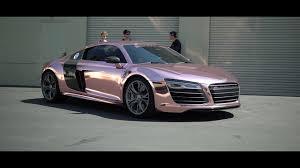tanner braungardt car. tanner braungardt\u0027s audi r8 reveal!!! rose gold chrome sd wrap tanner braungardt car