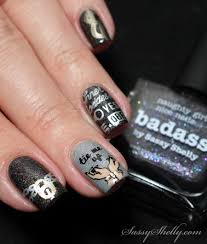 Digit-al Dozen - Black ~ Fifty Shades of Nail Stamping | Sassy Shelly