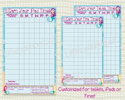 Mermaid Earn Your Ipad Tablet Fire Time Chart Chore Chart Goal Chart Dry Erase Laminated Visual Chart Responsibility Kids