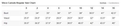 T Tahari Size Chart My Size Charts Elie Tahari Size Chart