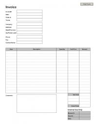 blank service invoice sample invoice templates blank invoice blank service invoice sample