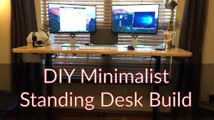 diy standing desk. Exellent Desk DIY Minimalist Standing Desk On Diy