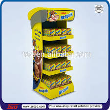 Retail Product Display Stands Delectable Tsda32 Custom High Quality Floor Plastic Milk Product Display