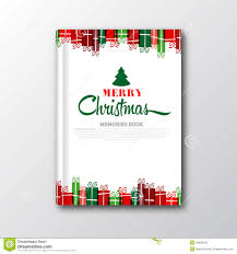 christmas book cover or flyer template stock illustration image christmas book cover or flyer template