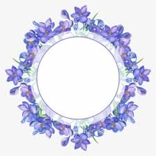borders for paper borders and frames watercolor flowers saffron flower frame png
