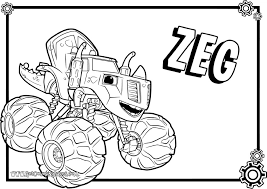 Easy Blaze Coloring Pages Now Free Top 31 And The Monster Machines