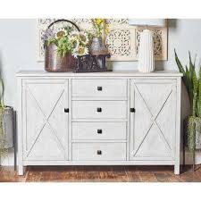 white dining room buffet. White Rectangular Sideboard With 2-Doors And 4-Drawers Dining Room Buffet