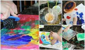 really easy kids painting ideas
