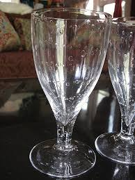 glass goblet candle holder elegant set of 4 roost art glass water goblets pristine new condition