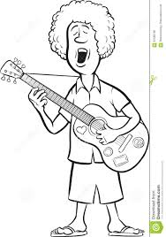 Small Picture Whiteboard Drawing Man With Acoustic Guitar Singing Stock Vector