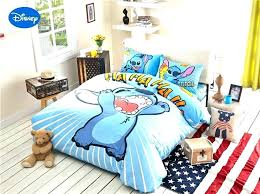 twin bedding bed set stitch print for kids bedroom decor cotton comforters pokemon sheet double comforter