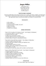 Myperfect Resume Awesome Babysitter Resume Template Best Design Tips MyPerfectResume Resume