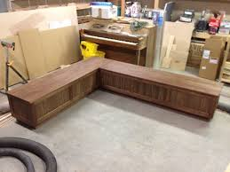 Kitchen Bench With Storage L Shaped Bench With Storage Plans Kitchen L Shaped Bench With