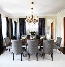 dining room chandelier brass. Ornate Brass Chandelier For Glamorous Dining Room Interior Design With Grey Chairs And Black Curtains D