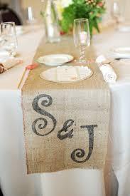 personalized burlap table runner so cute for weddings