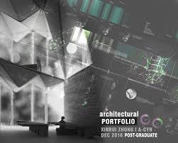 Cover Page For Portfolio Portfolio Cover Page Xinrui Zhong Archinect