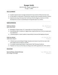 Childcare Worker Resume Kafri Inspiration Child Care Provider Resume