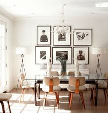 Bright Dining Area With Photo Wall Art