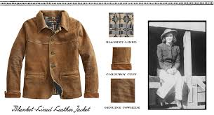 brown cowhide jacket vintage photograph of woman wearing similar jacket
