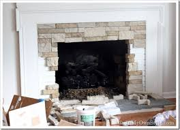 modern stone fireplace makeover ideas airstone on a diy budget inmyownstyle
