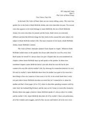 the color of water essay was telling us his mother s past and 4 pages the color of water essay