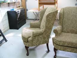 office chair reupholstery. Full Reupholstery For Two Wing-Backed Chairs Office Chair Reupholstery H