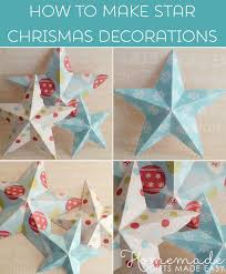 How To Make A Christmas Star With Chart Paper Making Christmas Decorations Easy 3d Stars Baubles And More