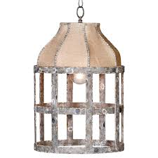 lucia french country cottage rustic iron burlap 1 light pendant kathy kuo home
