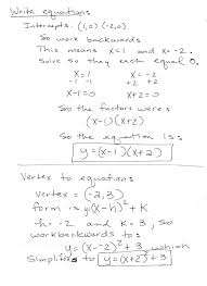 worksheet vertex form worksheet caag week of 112 mrs melody stouts math blog blog