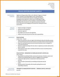 Police Officer Resume From Resumes Peachy Idease Ficer Resume