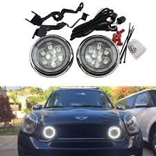 2x led halo rally drl daytime driving light for mini cooper r55 r56 r57 r58 r60