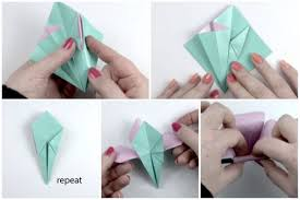 How To Make Flower With Paper Folding Make An Easy Origami Lily Flower