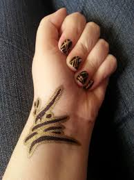 Golden Ink Nail Art by icerose05 on DeviantArt