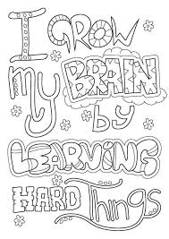 Free Growth Mindset Coloring Pages Pdf Coloring For Kids 2019