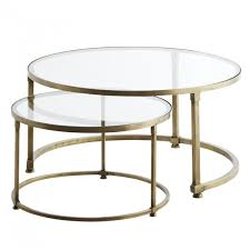 madam stoltz nested tables glass brass loading zoom