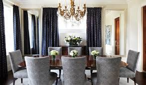 blue dining room curtain ideas