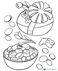 Simple black outline on white stock vector illustration. Easter Coloring Pages